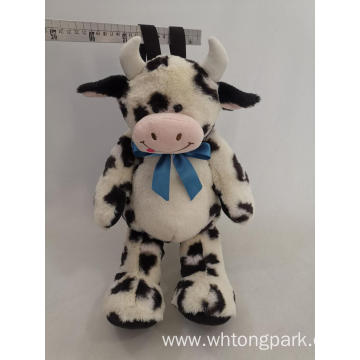Plush cow bag stuffed animal bag