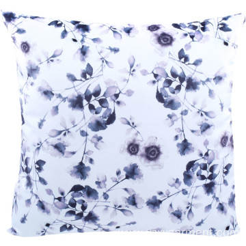 Purple floral printed cushion pillow