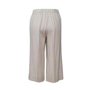 Cotton Linen Pants Loose Casual Solid Color