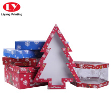 Custom nga Haum nga Christmas Tree Gift Box nga adunay Window