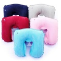 U shape inflatable travel neck support pillow