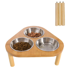 Bamboo Stand Pet Cat Dining Table