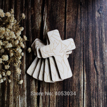 Wooden Christian Cross with a Pentecost Design Craft Shape Plywood