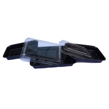 Black food grade plastic Sushi Box Container Tray