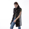 Fashion cashmere fur coat
