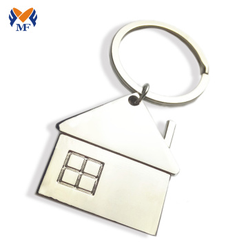 Metal cheap price house shape keychain