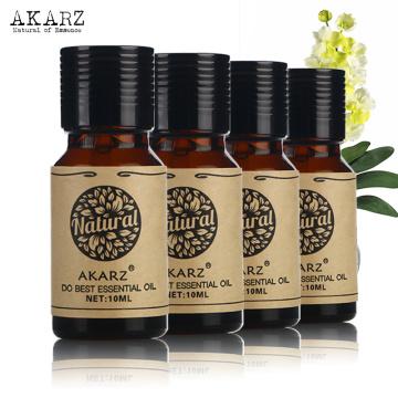 AKARZ Famous brand Neroli Gardenia Ginseng Ambergris essential oil For Aromatherapy Massage Spa Bath skin care 10ml*4