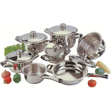 Stainless Steel Wide Edge Cookware Set SS