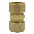 Compression Brass Straight Coupling Socket