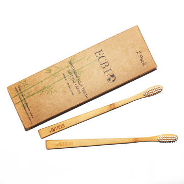 4 Pack Bamboo Toothbrush For Hotel Used
