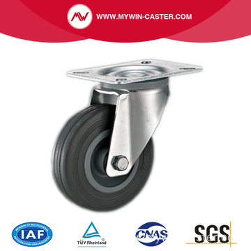Plate Swivel Industrial Plastic Core Gray Rubber Casters