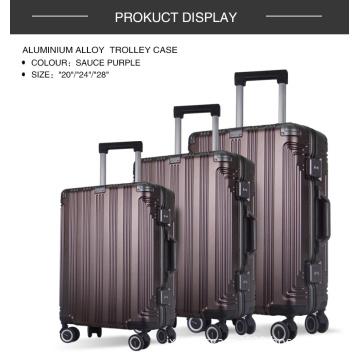 3pcs Set Trolley Bags Aluminum Frame Luggage