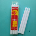 Low Price Snow White Stick Fluted Candles
