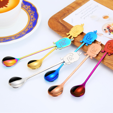 Stainless Duck Cartoon coffee Stirring Spoon