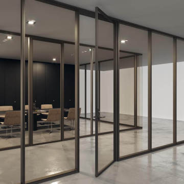 aluminium glass partition wall systems