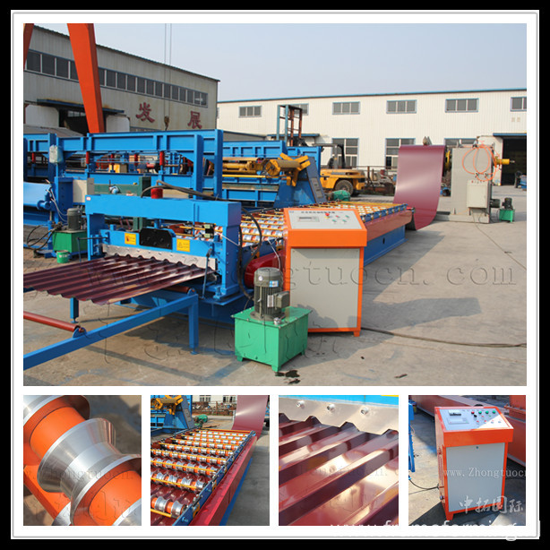 Hydraulic Ibr Roof Panel Roll Forming Machine