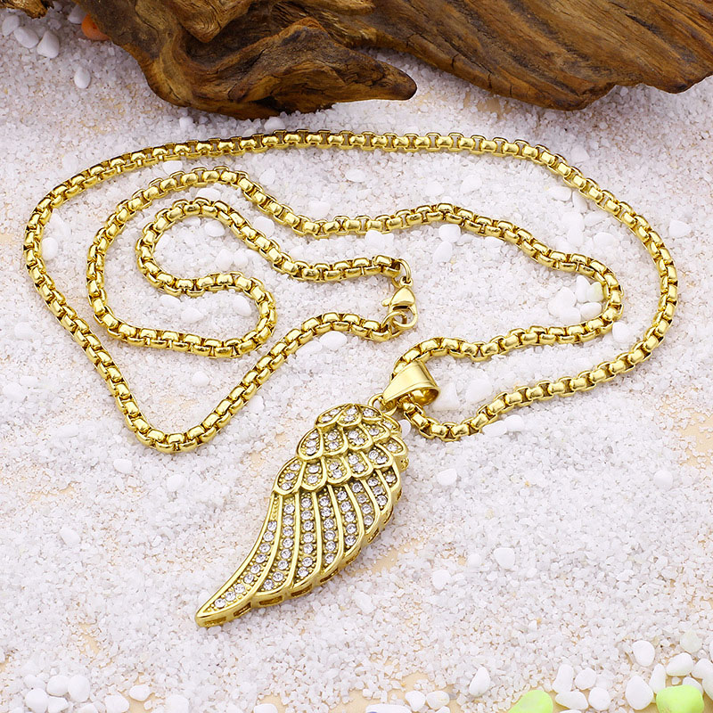 Mens Angel Wing Necklace
