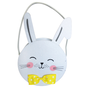 Easter white candy bucket with Mr. Rabbit shape