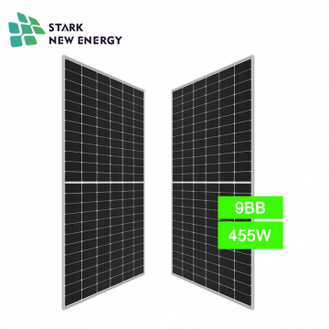 455w half cut solar panel with best quality