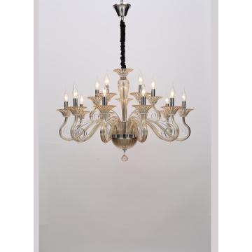 Modern Creative Indoor Champagne Gold Glass Chandelier
