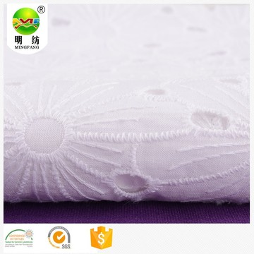 cotton twill fabric 100% cotton eyelet embroidery fabric