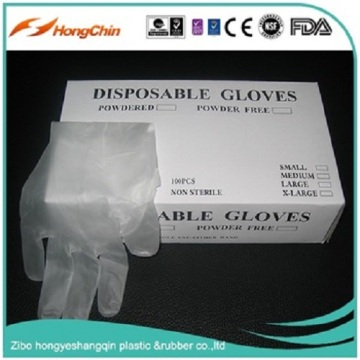 Low Powder Vinyl Gloves