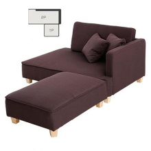Upholstered Chaise Lounge Sofa Chair With Ottoman