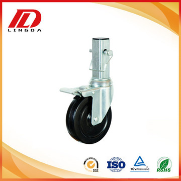 4 inch industrial square stem caster