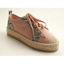 Women's Lace-Up Chunky Platform Espadrille Fashion Sneaker