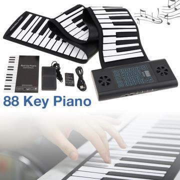 Electronic Organ 49/61 /88Keys MIDI Roll Up Piano Rechargeable Electronic Portable Silicone Flexible Keyboard Organ