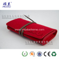 Red rectangular handbag felt made