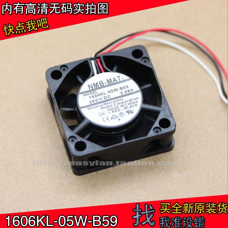 1606KL-05W-B59 new NMB 4015 DC fan DC24V 0.08A fanuc cooling fan 40×40×15mm cooler inverter CNC machine