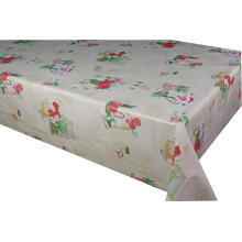 Elegant Tablecloth with Non woven backing Ivory