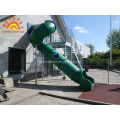 Family Outdoor Backyard Tube Slide For kids
