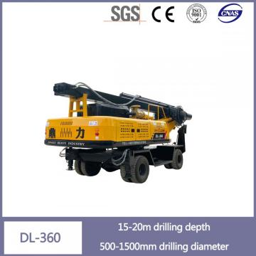 Factory direct wheeled square pole pile machine