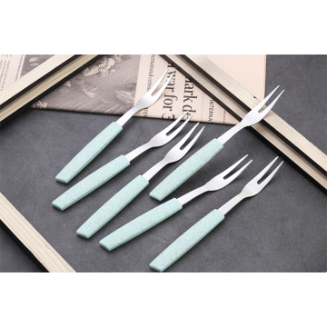 Wheat plastics handle Stainless steel salad fork