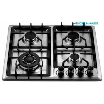 4 Burner Stainless Steel Electric Spiral Gas Stove
