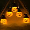 Halloween Pumpkin Lights Lanterns 10/20/40 LED 3D Pumpkin String lights for All Saints' Day Halloween Party Decoration light