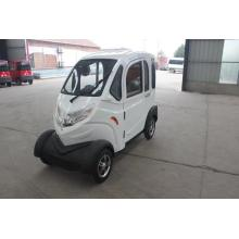 Pure white 4 wheel low speed electric car