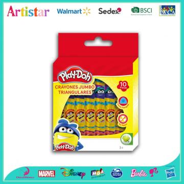 Play-Doh 10-piece triangle crayons
