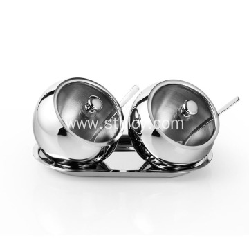 2 Pieces Stainless Steel Empty Spice Seasoning Jar