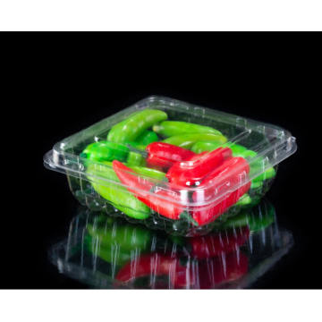 Transparent Lettuce Clamshell Vegetable Packaging Box
