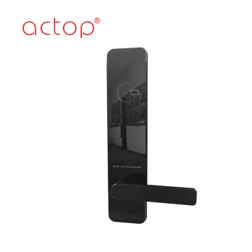 Black simple style hotel smart door lock