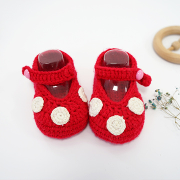Lovely Knitting New Born Crochet Shoes