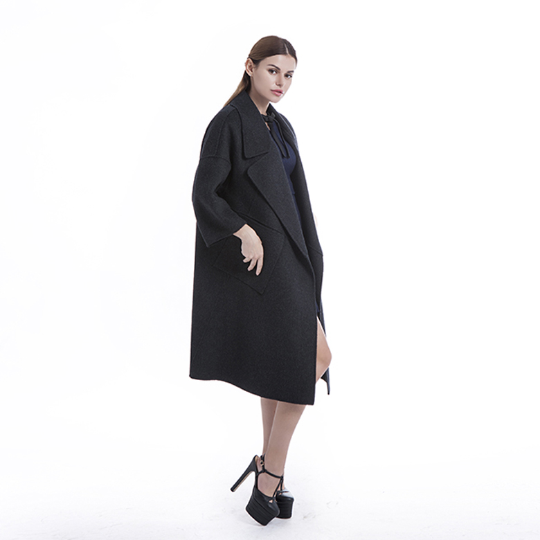 Long Cardigan Cashmere Coat