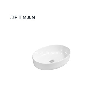 Elegant ceramic material bathroom oval art basin