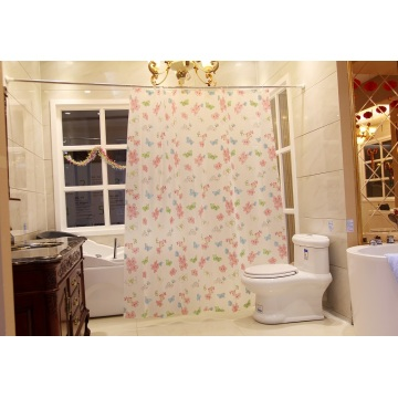 Shower Curtain PEVA Butterfly Design