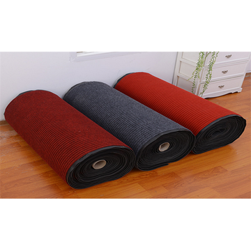 Professional black velour plain carpet red polyester