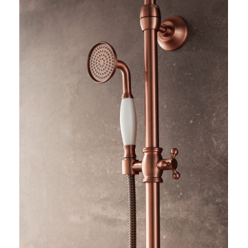Shower faucet kit made of brass