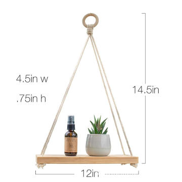 Bamboo Display hanging shelf organizer